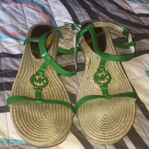 Michael Kors Raffia Sandals Sz 11